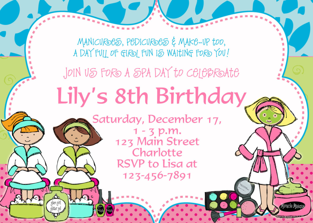 invitation for birthday party text kid ; eight1