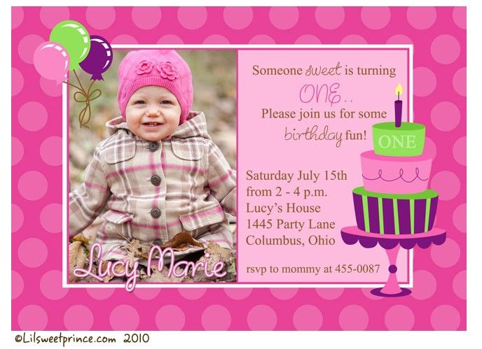 invitation for first birthday of my daughter ; 82ebd51b6e41549fac837f26ffc33b2c--first-year-birthday-st-birthday-photos