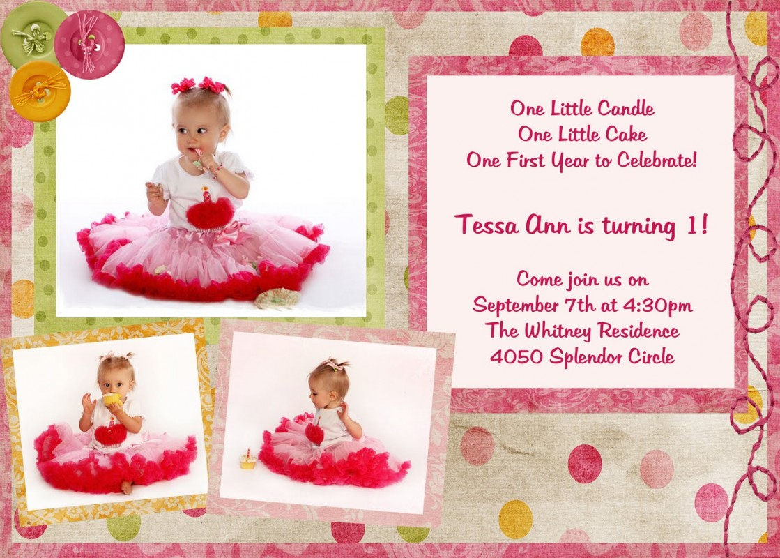 invitation for first birthday of my daughter ; cute-first-birthday-quote-1-picture-quote-1