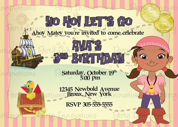 jake and the neverland pirates birthday card print ; 16bed1e3d080556437ce8d8ac612d7f7