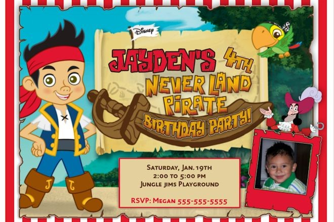 jake and the neverland pirates birthday card print ; Attractive-Jake-And-The-Neverland-Pirates-Birthday-Invitations-Which-You-Need-To-Make-Free-Birthday-Invitations