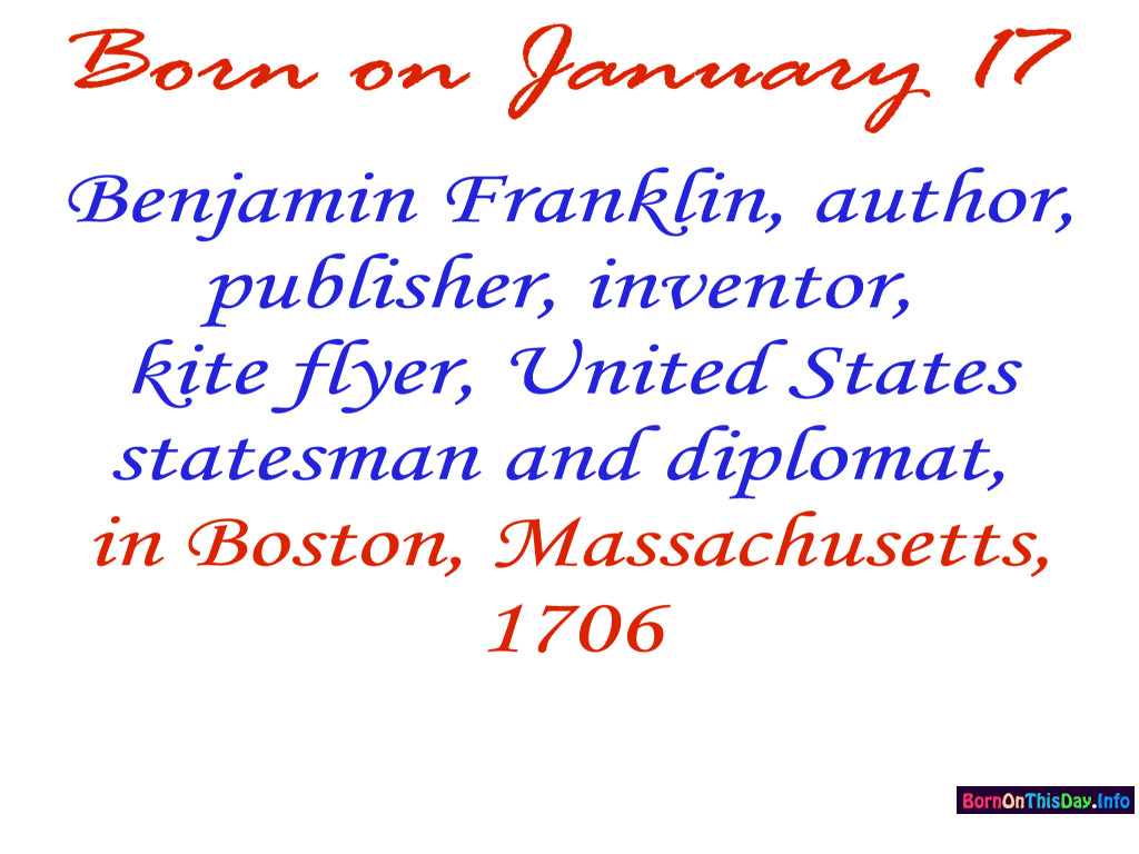 january birthday wallpaper ; 0117at_1024x768_benjaminfranklin1706