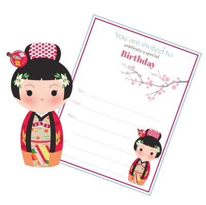 japanese birthday invitation templates ; japanese-party-invite
