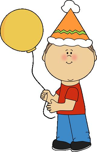 kids birthday clipart ; kid-with-birthday-balloon