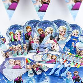 kids birthday party decoration ideas ; FROZEN-THEME