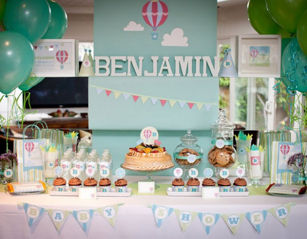 kids birthday party decoration ideas ; up-up-and-away-624x485