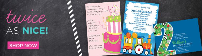 kids birthday party invitation message ; kids-2nd-birthday