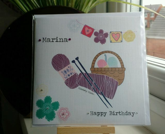 knitted birthday card pattern ; $_58