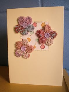 knitted birthday card pattern ; 1731416657641c630d3d5a5570762f56--knitted-flowers-card-birthday