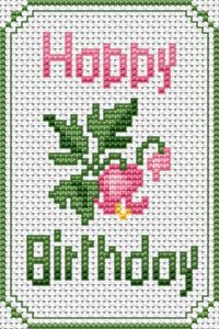 knitted birthday card pattern ; 54f7758d3eefa7cca203e0d58969aa0a