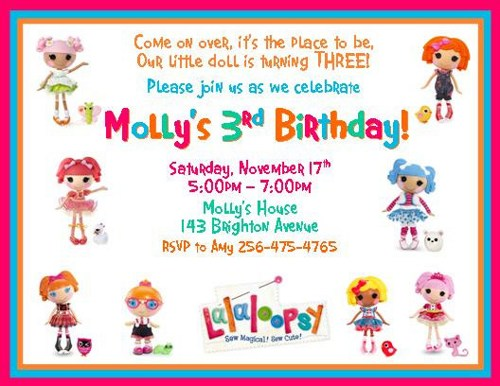 lalaloopsy birthday invitation wording ; lalaloopsy-invitation-template-12-printed-lalaloopsy-inspired-personalized-birthday-invitations-templates