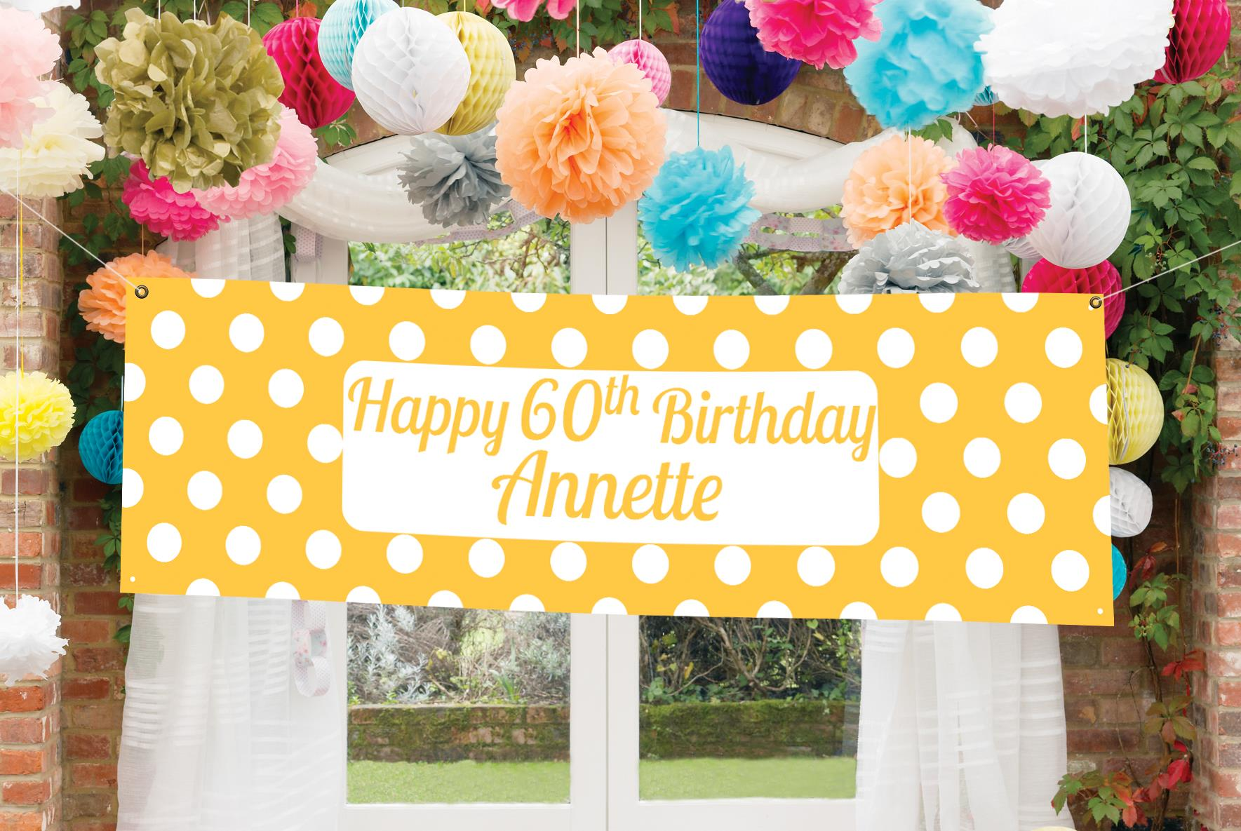 latest birthday party themes ; 60