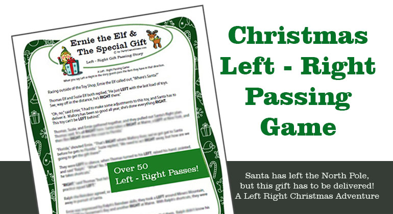 left right birthday poem ; Ernie-Special-Gift-Christmas-Left-Right-Game
