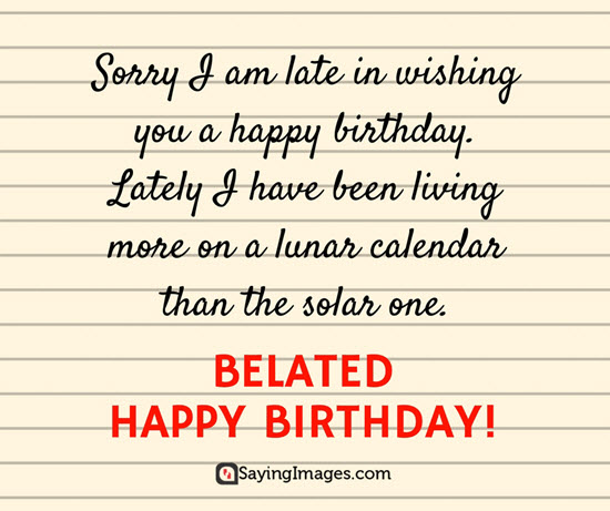 lines to write on birthday card ; late-birthday-card