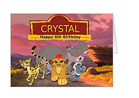lion guard birthday card ; 51PT4F5t8vL