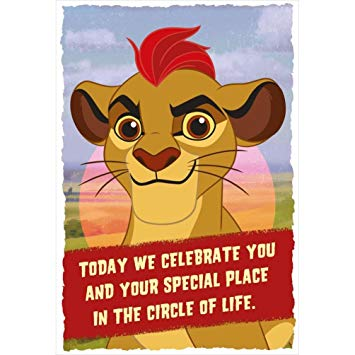lion guard birthday card ; 61XujHyImLL
