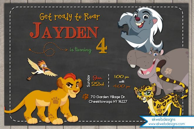 lion guard birthday card ; 9d4cab71be10313e646df615184e45a1
