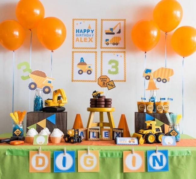 little boy birthday themes ; 0d0a5697353adb864762f624c73f1cc3--construction-birthday-parties-themed-birthday-parties