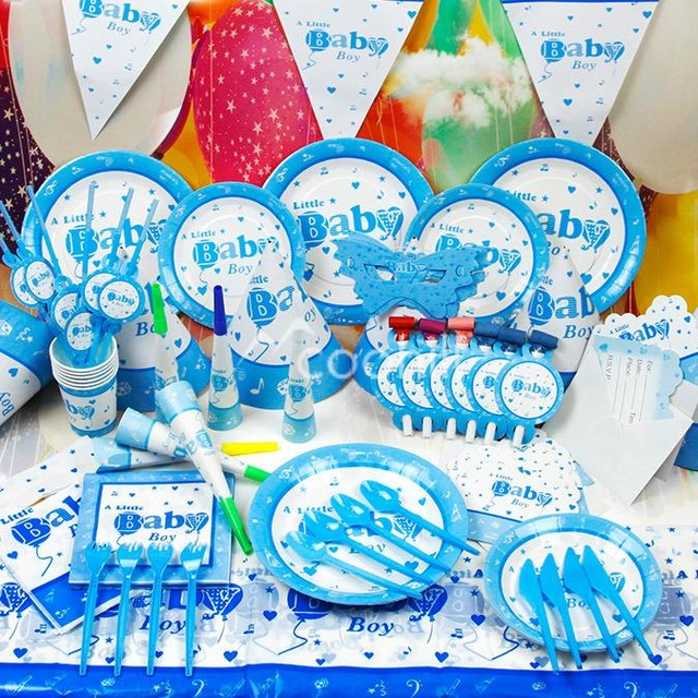little boy birthday themes ; 90pcs-set-A-little-Baby-Boy-Birthday-Party-Decorations-Set-Event-Party-Supplies-Favors-Children-Kids
