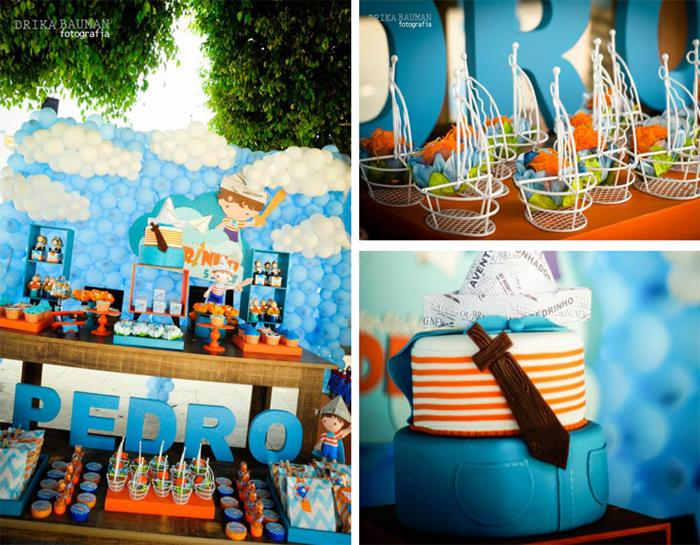 little boy birthday themes ; boy-party
