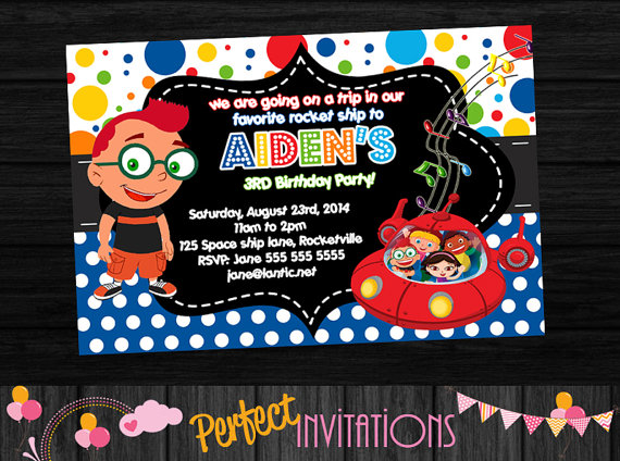little einsteins birthday invitation template ; 3debcc5e2f0109bc44de100848f194d3