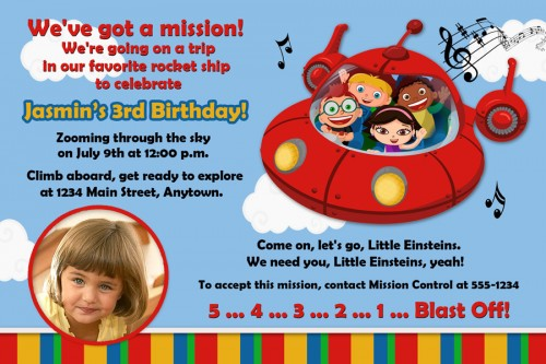 little einsteins birthday invitation template ; Custom-birthday-invitations-for-teens