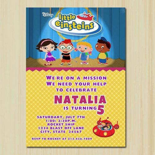little einsteins birthday invitation template ; a5142c9018d2aa8c1c5d4d2715030db4--little-einsteins-birthday-card-birthday