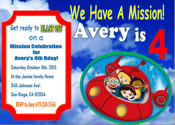 little einsteins birthday invitation template ; il_570xN