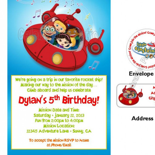 little einsteins birthday invitation template ; little-einsteins-birthday-invitation-template-little-einsteins-birthday-invitations-w-address-labels-and-seals-d27246b8