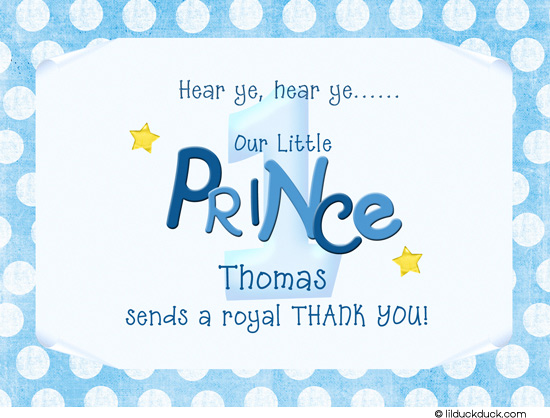 little prince birthday card ; lil-prince-thank-you-card-royal-front-1