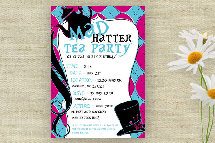 mad hatter tea party birthday invitation wording ; Outstanding-Mad-Hatter-Tea-Party-Invitations-Which-Can-Be-Used-As-Free-Printable-Birthday-Party-Invitations