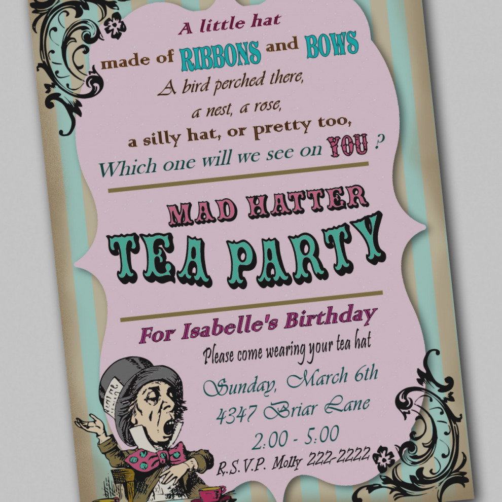 mad hatter tea party birthday invitation wording ; awesome-of-mad-hatter-tea-party-invitations-wording-incredible-to-design-diy