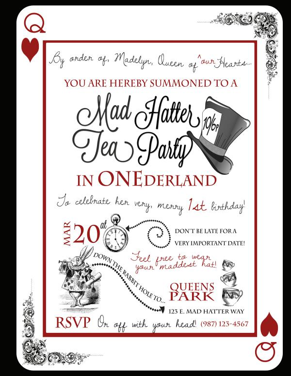 mad hatter tea party birthday invitation wording ; mad-hatter-tea-party-invitations-make-your-artistic-Party-invitations-much-more-awesome-1