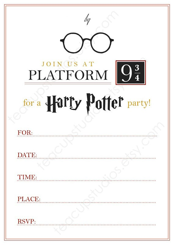 make your own harry potter birthday card ; Enchanting-Harry-Potter-Birthday-Invitations-Which-You-Need-To-Make-Birthday-Invitation-Cards