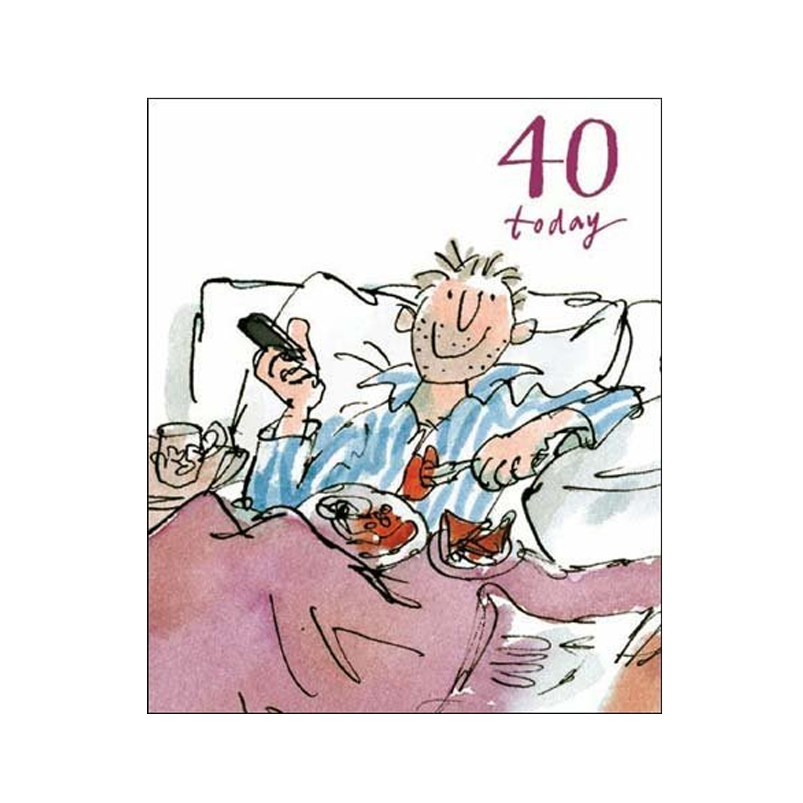 male 40th birthday card ideas ; 40th-male-Birthday-Card-Quentin-Blake