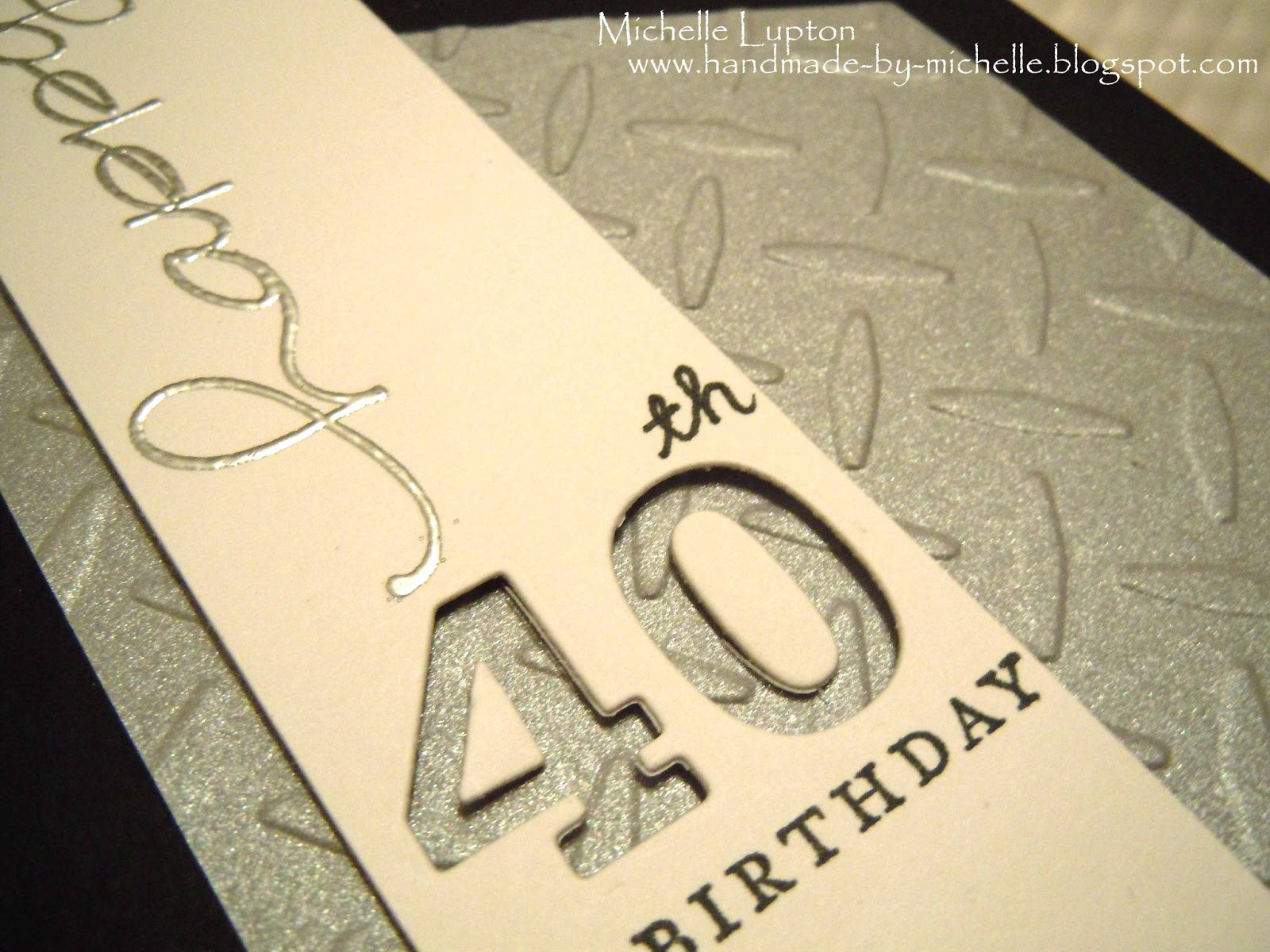 male 40th birthday card ideas ; black+and+silver+40th+close+up