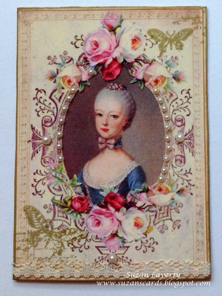 marie antoinette birthday card ; ATC-%25231