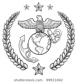 marine corps birthday clip art ; doodle-style-military-rank-insignia-260nw-99911042