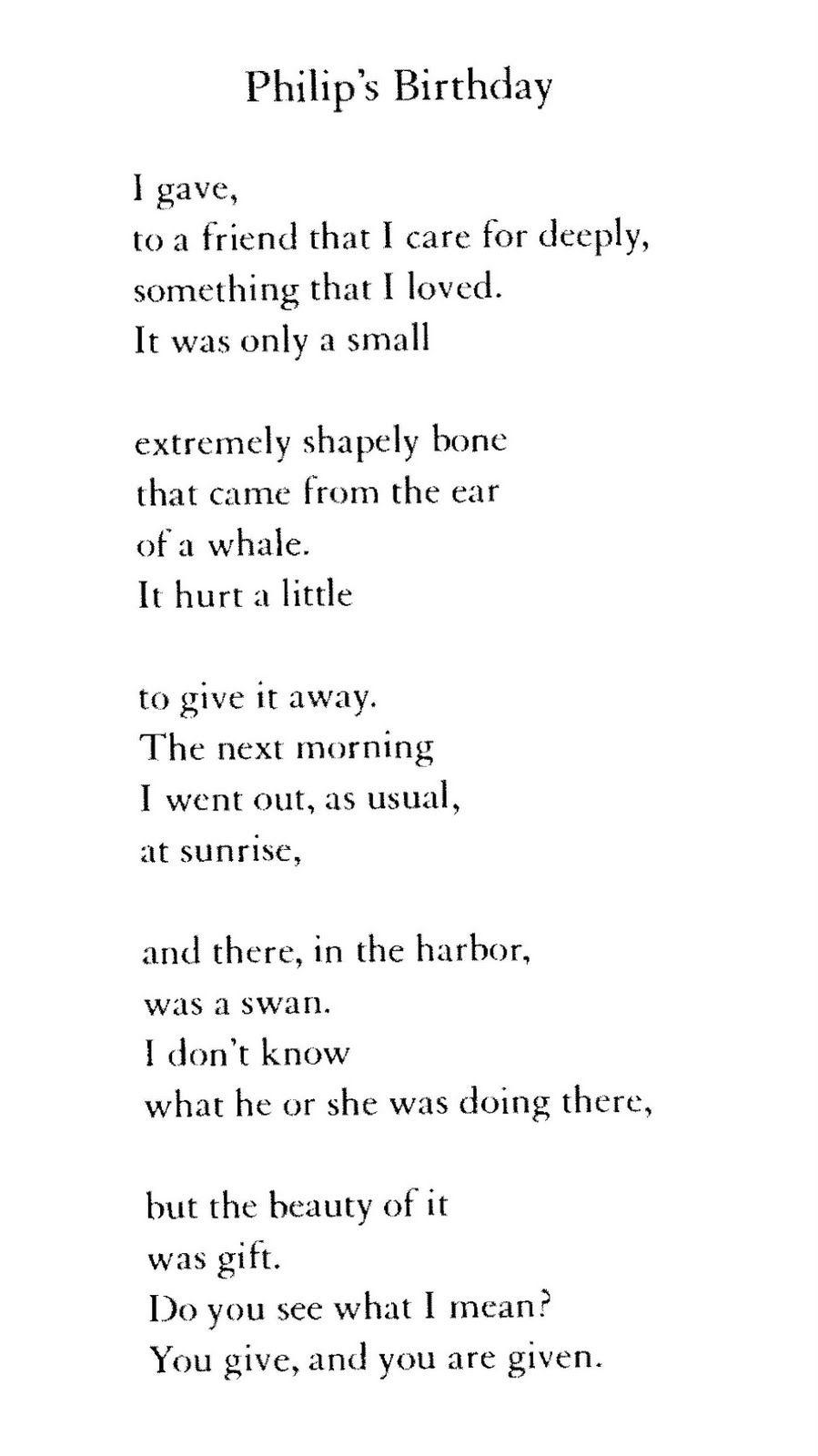 mary oliver birthday poem ; 46263ddeb634e9ed85bc12fdee1f6dc3
