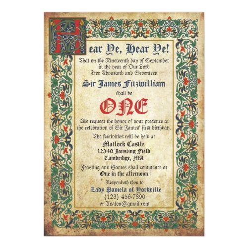 medieval birthday greeting ; 5824045970aa26be0f8902a6567f6010