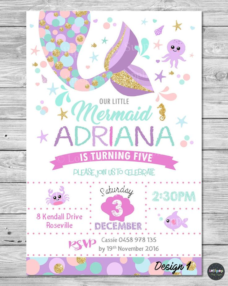 mermaid birthday invitations with picture ; Free-Mermaid-Invitatio-Popular-Mermaid-Party-Invitations