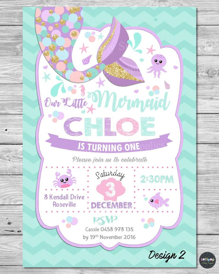mermaid birthday invitations with picture ; Mermaid-birthday-invitations-to-get-ideas-how-to-make-your-own-birthday-invitation-design-16