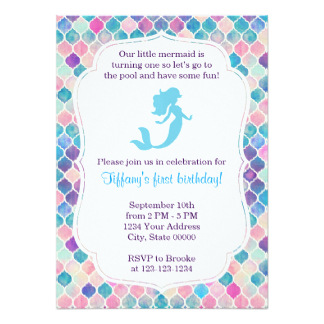 mermaid birthday invitations with picture ; mermaid-birthday-invitation-with-back_little-mermaid-invitations-announcements-on-brunette-mermaid-birthday-invitation-card-invitatio