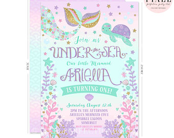 mermaid birthday invitations with picture ; mermaid-birthday-invitations-for-simple-invitations-of-your-Birthday-Invitation-Templates-using-graceful-design-ideas-16