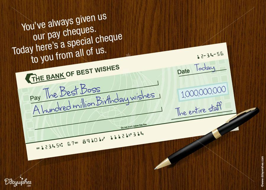message for boss on his birthday ; the-bank-of-best-wishes-boss-birthday