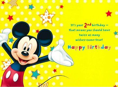 mickey mouse 2nd birthday card ; Disney-Mickey-Mouse-2nd-Birthday-Greeting-Cards-_1
