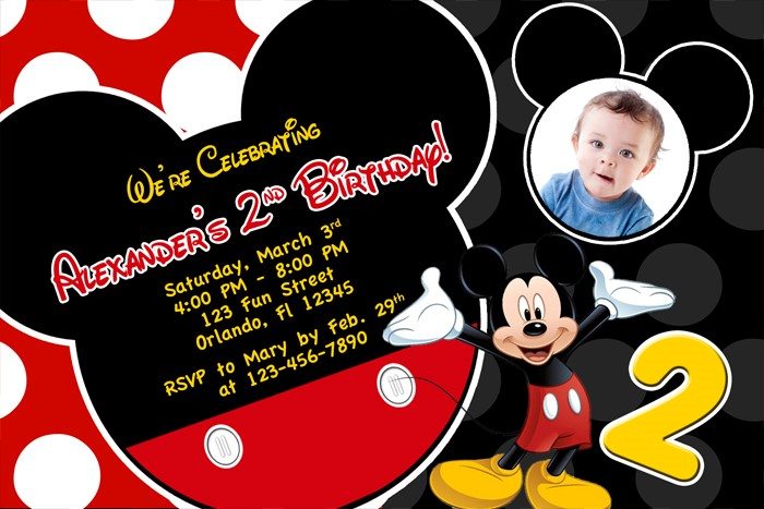 mickey mouse 2nd birthday card ; Inspiring-Mickey-Mouse-2Nd-Birthday-Invitations-Which-You-Need-To-Make-Birthday-Invitation-Templates