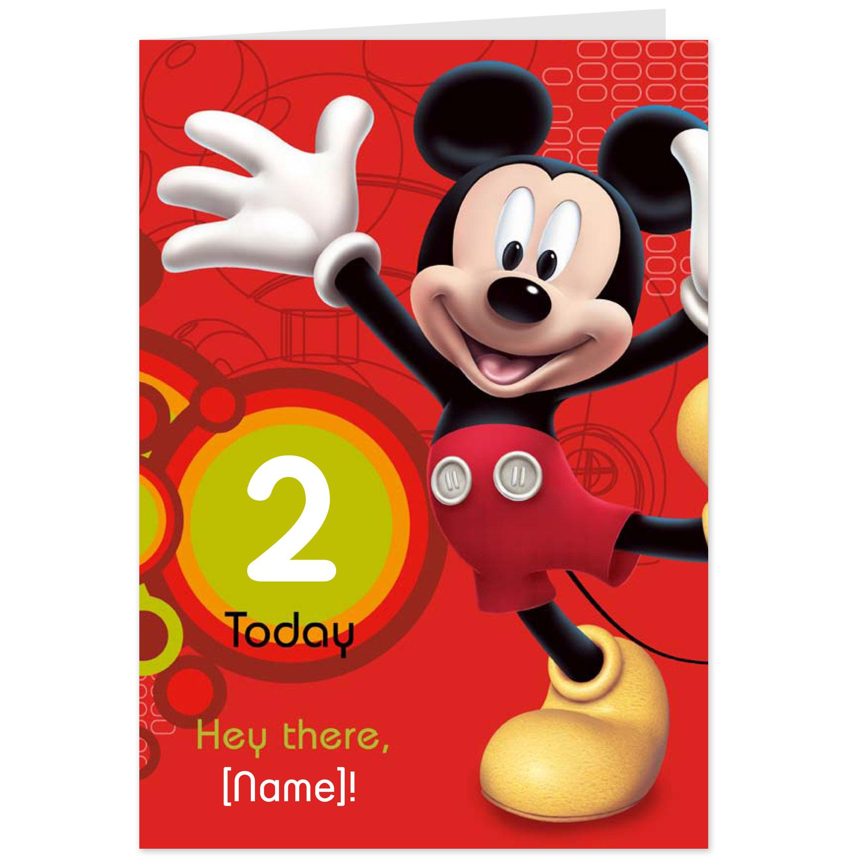 mickey mouse 2nd birthday card ; hallmark-cards-greetings-cards-and-gifts-4