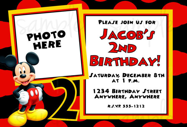 mickey mouse 2nd birthday card ; mickey-mouse-2nd-birthday-invitations-by-way-of-using-an-impressive-design-concept-for-your-sensational-Birthday-Invitation-Templates-13