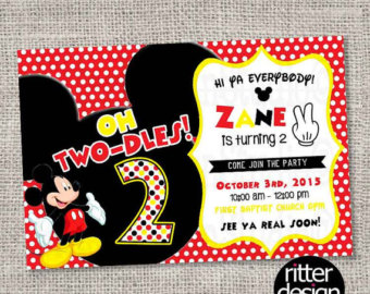mickey mouse 2nd birthday card ; mickey-mouse-2nd-birthday-invitations-with-graceful-ornaments-of-beautiful-Birthday-Invitation-Cards-invitation-card-design-1